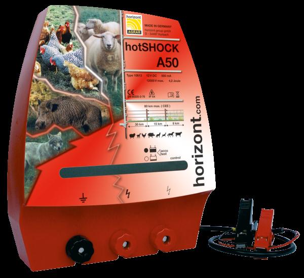 Adapter Hotshock A50, 12 V, 4,2/3 J