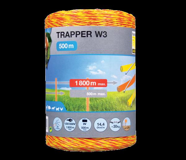 Taranöör TRAPPER W3, rull 500 m